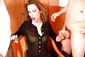 hot youthful non-professional wench shagging with
