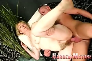 old hairy love tunnel gets new cock