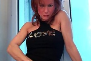 sultry grandma probes her old bawdy cleft with a