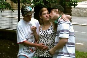 juvenile gal street public gangbang sex fuckfest