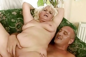 naughty bulky grandma having sex with old guy