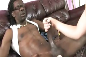 white babe takes massive darksome dong 23