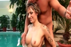 excited milf gets double drilled as one