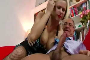 blond in stockings acquires off with sex-toy