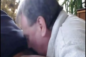 dad sucks dark cock