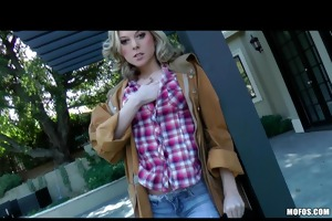 breasty golden-haired naughty cowgirl fists &