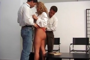 obscene golden-haired d like to fuck blows white