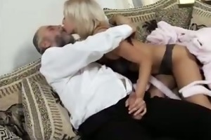 golden-haired fucked by old