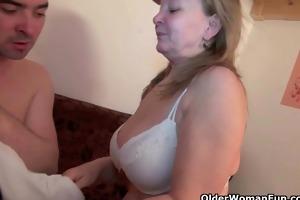 spill your goo on grandmas old slit