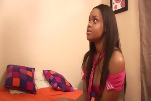 breasty ebony gets drilled by her step brother in