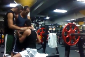 dad and 2 twinks fuck in gym after hours