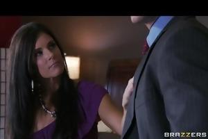 hot dark brown ex-wife milf bonks her attorneys