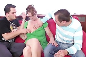 two boys enjoy fucking hot mom