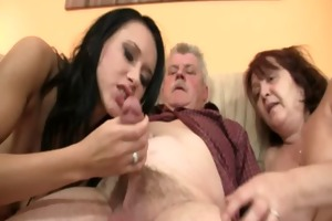 he is finding his gf riding his dads cock