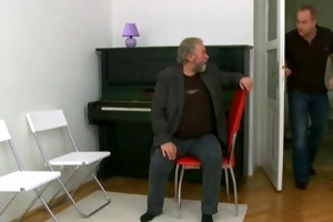 old piano teacher bonks his teen student jointly