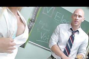 cute & playful blonde schoolgirl fucks her