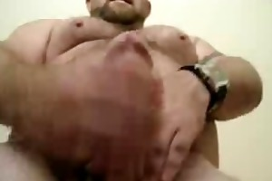 muscle bear feeds his boy