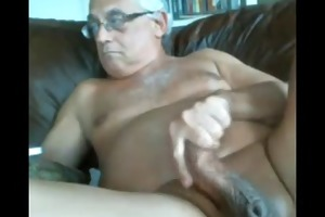 likeaolder grandpapa 61 y d jerking off his obese