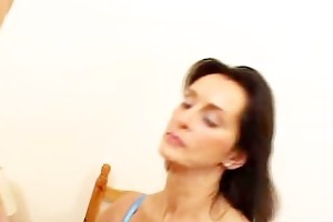milf angie george takes on a hard cock