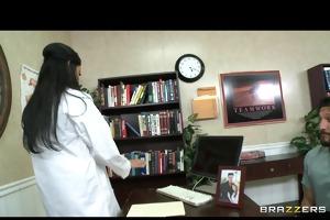 hot dr. benson, a nympho dentist, fucks her aid