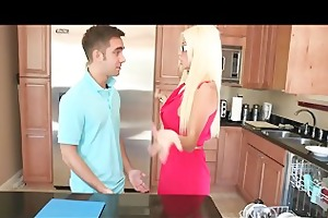 breasty golden-haired step-mom fucks her