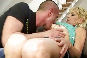 sexy grandma fucking with her young paramour