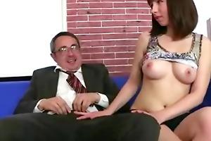 old teacher loved his russian brunette student