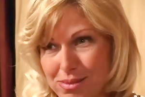 glamorous blond milf drilled by a younger stud