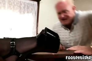 grandpa has a footfetish