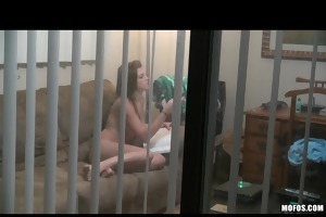 teen wench caught studying naked is screwed ha