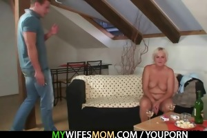 lewd granny seduces her son in law