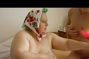 old bbw granny playing with sextoy and her cunt