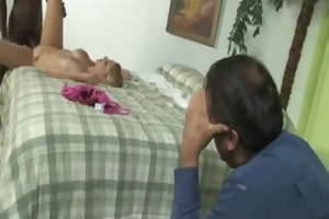 watchung my daughter getting fucked by black knob