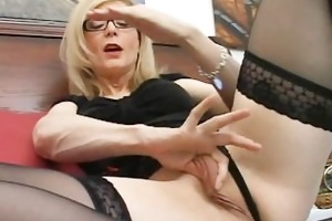 golden-haired mum in glasses licking hard part4