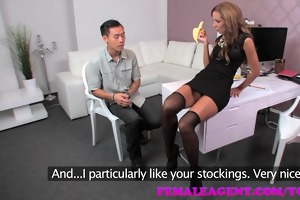 femaleagent. oriental casting fucks female agent