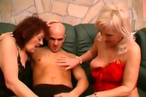 horny mature babes share a pecker