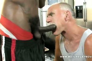 white daddy breaks ass on giant dark schlong
