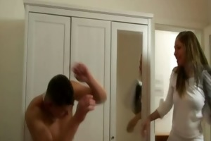 concupiscent man bangs his mother-in-law