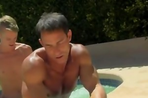 twink sex dad poolside prick loving
