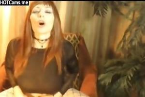 nice-looking mother i big meatballs rides dildo