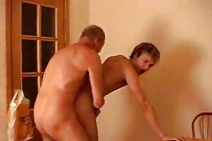 guy is screaming when shaved old man rimming him