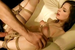 youthful angel receives bound up and drilled hard