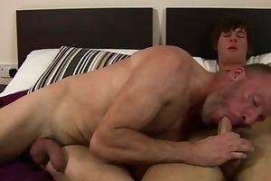 older boy tasting new enchanting youthful cock