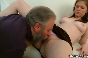 maria lets an old guy fuck her and then gets her