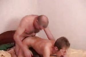 twink takes it is hard from behind by old daddy
