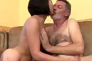 grand-dad fuck this juvenile sweetheart