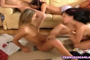 youthful lesbian schoolgirls licking and sucking