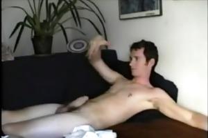 str solo twink masturbates and cums
