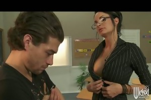 hot breasty school teacher alektra punishes her