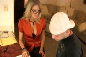 lustful teacher jerks off her student